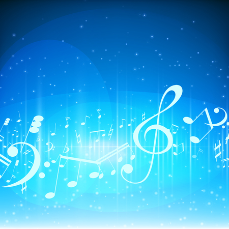 Colorful music background Vector illustration.