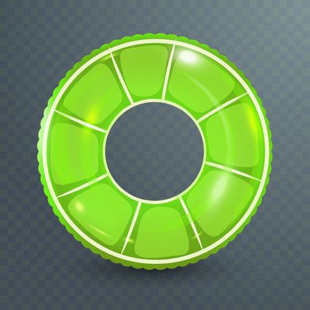 Lifebuoy, swim ring with citrus design in transparent background.