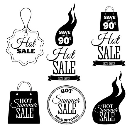 Hot Sale banners. This weekend only special offer template, vector illustration.