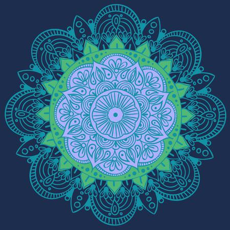 만다라 벡터 디자인 요소. 라운드 장식 장식. 화려한 꽃 패턴입니다. 양식화 된 꽃 모티브. 복잡한 번성 직조 메달. 문신 인쇄 스톡 콘텐츠 - 102928531