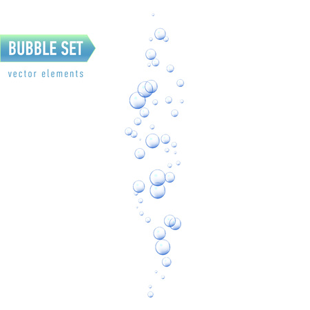 Bubbles under water on white background. vector illustration Illustration