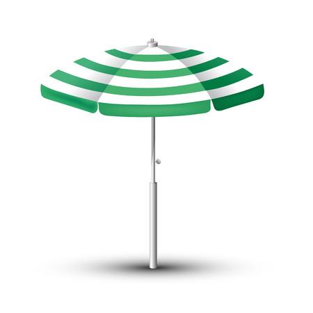 Sombrilla de playa. El símbolo de unas vacaciones junto al mar. Ilustración vectorial