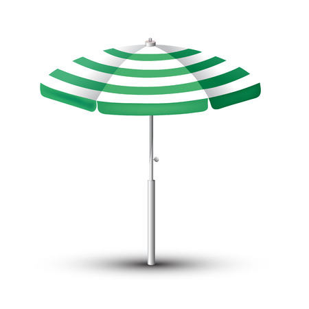 Beach Umbrella. The symbol of a holiday by the sea. Vector illustration