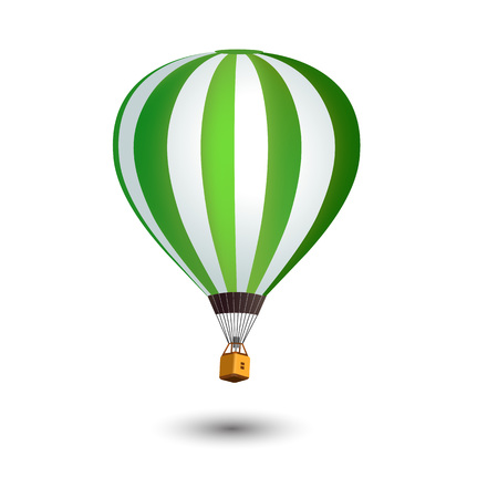 Realistic Hot Air Balloon isolated on white background. Vector illustration.
