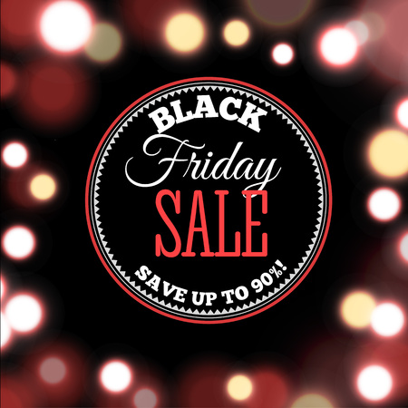Black Friday Sale poster in realistic style include background with lights