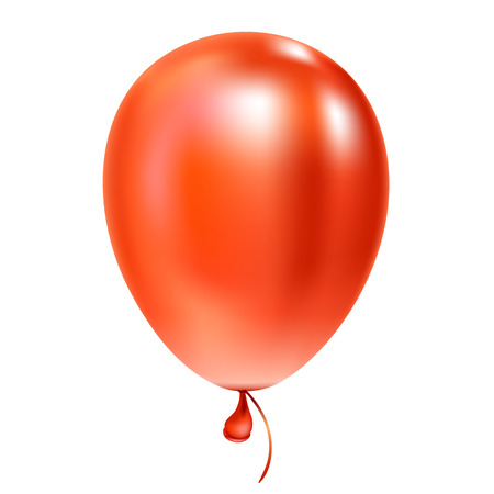 REd helium balloon Birthday baloon flying for party and celebrations Isolated on white background. Vector illustration for your design and business