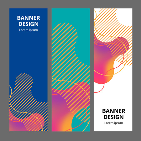 Banner background design. Colored modern abstract template