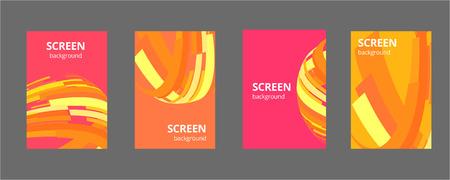 Colorful geometric background. Fluid shapes composition. Eps10 vector illustration