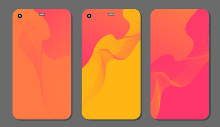 Set fashionable abstract ornaments for mobile phone cover and screen . The visible part of the clipping mask. The sample is ready for printing after the release clipping mask. Vector illustration