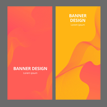 Banner background design. Colored modern abstract template. Vector illustration