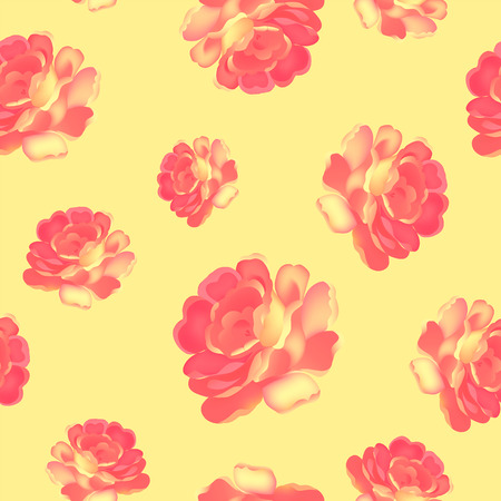 Roses pattern bunch of flowers, repeating print for fabric. Vector illustration