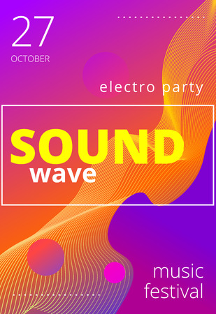 Music beat vector. Abstract equalizer. Sound Wave. Audio equalizer technology. Space For Text. Vector illustration