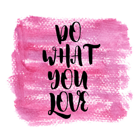Do what you love. Inspiring Creative Motivation Quote Poster Template. Vector Typography Banner Design Concept On Grunge Texture Rough Background. Vector illustration Imagens - 124991824