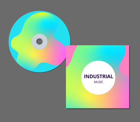 CD cover presentation design template with copy space and wave effect. EPS10 vector illustration.