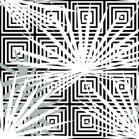 Tropical seamless vector floral pattern with palm leaves, jungle leaf. Tropic monochrome background, black and white illustration. Abstract texture, polka dot Standard-Bild - 124561836