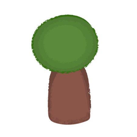 Small tree icon. Cartoon illustration of small tree vector icon for web. Trendy noisy texture