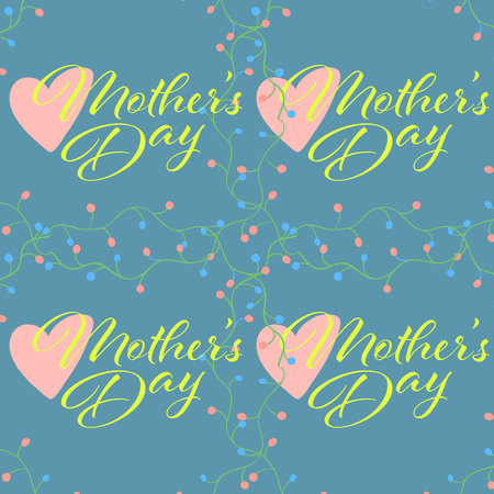 Happy Mother s Day Seamless pattern. Vector Illustration