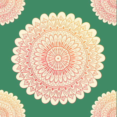 Ornamental seamless pattern with mandala. Vintage, paisley elements. Ornament. Traditional, Ethnic, Turkish, Indian motifs. Great for fabric and textile, wallpaper, packaging or any desired idea. Vector illustration Stock Illustratie