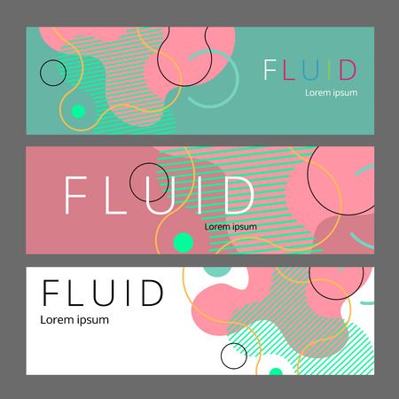 Colorful geometric background. Fluid shapes composition. Abstract banner template. vector. Standard-Bild - 122802802