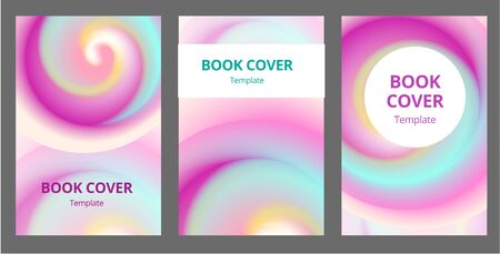 Modern abstract brochure covers set. Cool gradient shapes composition. Futuristic design. Eps10 vector.