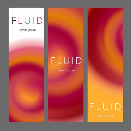 Modern abstract vertical banners set. Cool gradient shapes composition. Futuristic design. Stock Illustratie