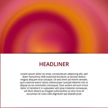 Modern abstract banner. Cool gradient shapes composition. Futuristic design. Eps10 vector.
