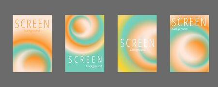 Modern abstract screen covers set. Cool gradient shapes composition. Futuristic design. Stock Illustratie