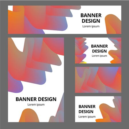Modern abstract identity. Cool gradient shapes composition. Futuristic design.