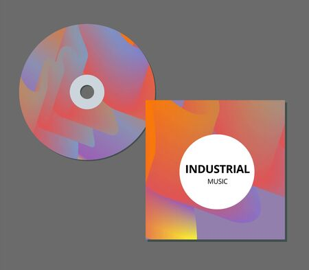 Modern abstract CD cover. Cool gradient shapes composition. Futuristic design. Stock Illustratie
