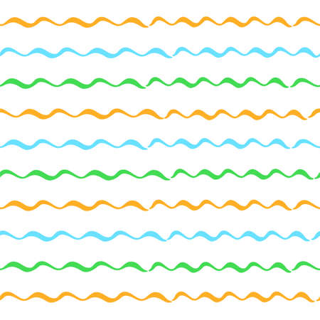 Hand drawn striped seamless pattern. Colored horizontal brush strokes texture.