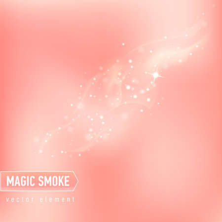 Glowing background with smoke and stars. Magical smoke for food advertising and package.