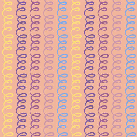 Hand drawn striped seamless pattern. Colored vertical brush strokes texture. Ilustração