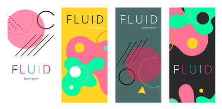 Colorful geometric background. Fluid shapes composition. Abstract banner template. vector.