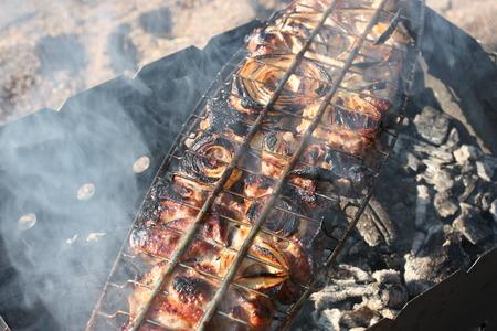 shish kebab: The tasty prepared shish kebab  Stock Photo