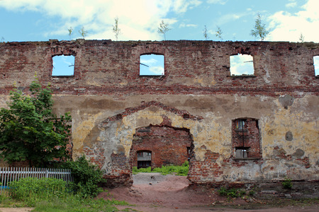 leningrad: Ruins of the Old Cathedral Church in Vyborg.  Vyborg, Leningrad region, Vyborgsky District, Russia.