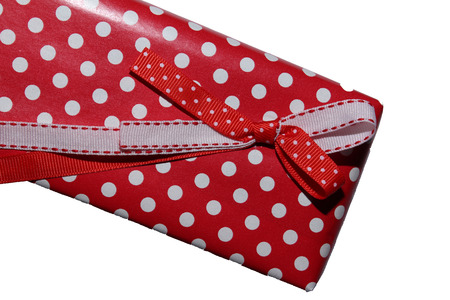 dolly bag: Gift bow on the box. Happy New Year present.