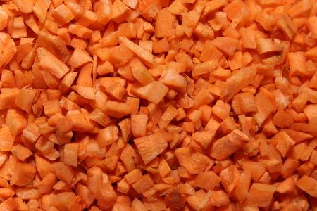 heathy: Finely chopped carrots. Heathy diet.