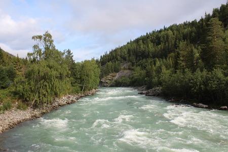 The Sjoa river near the Sjoa kayak camp. Norway. photo
