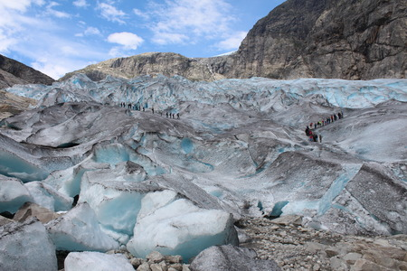 jostedalsbreen: Nigardsbreen is a glacier in Norway.