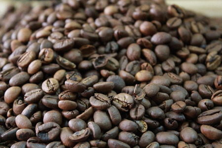 caffiene: Roasted coffee beans.