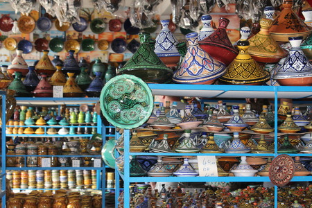 fireclay: In the ceramics shop in Morocco.