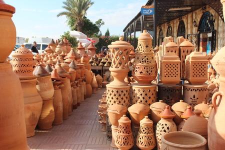 fireclay: Ceramics. Manual production. Stock Photo