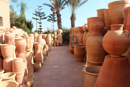 kaolin: Ceramics. Manual production. Stock Photo