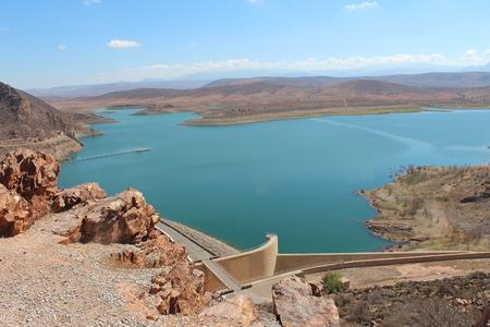 al: Barrage Al massira, Morocco. Stock Photo