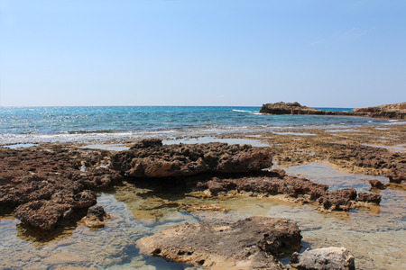 sky bachground: The Mediterranean Sea, beautiful landscape. Cyprus. Stock Photo