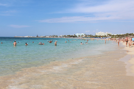 Pantachou Beach in Agia Napa, Cyprus. Stok Fotoğraf