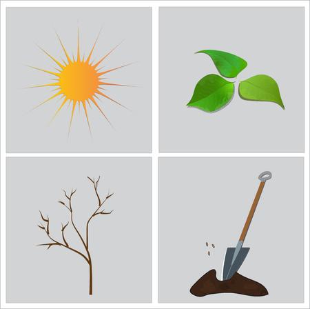 Season, spring time. Illustration