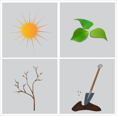 the season: Season, spring time. Illustration