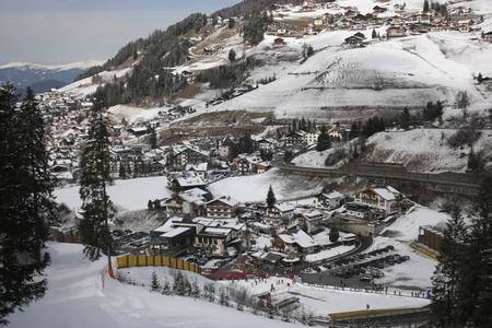 gardena: Dolomites skiing resort. Gardena.
