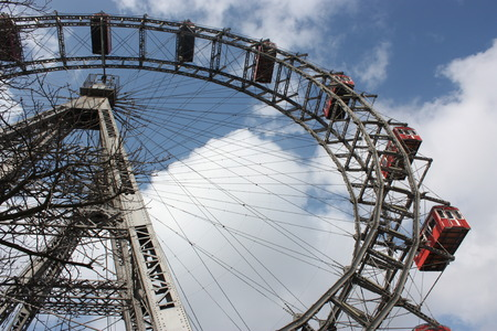 prater: Famous and historic Ferris Wheel of Prater park, Vienna.